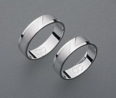 stříbrné snubní prsteny vzor Z7