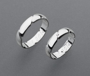 stříbrné snubní prsteny vzor Z43