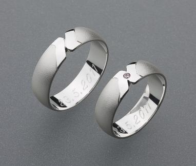 stříbrné snubní prsteny vzor Z15