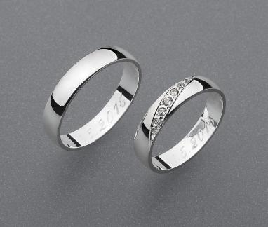 stříbrné snubní prsteny vzor Z13