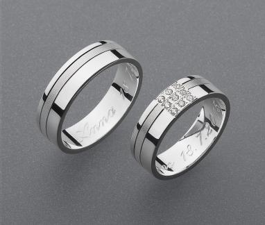stříbrné snubní prsteny vzor Z49