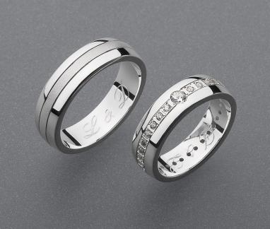 stříbrné snubní prsteny vzor Z50