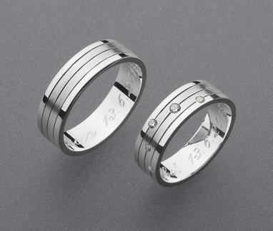 stříbrné snubní prsteny vzor Z51