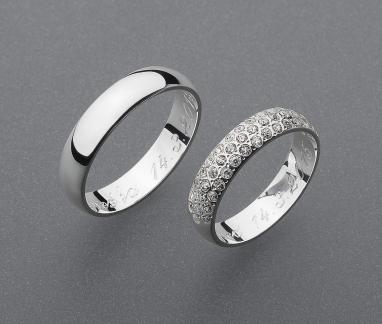 stříbrné snubní prsteny vzor Z52