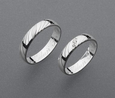 stříbrné snubní prsteny vzor Z53