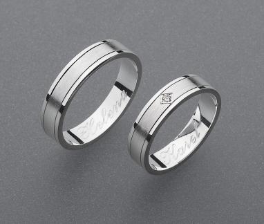 stříbrné snubní prsteny vzor Z55