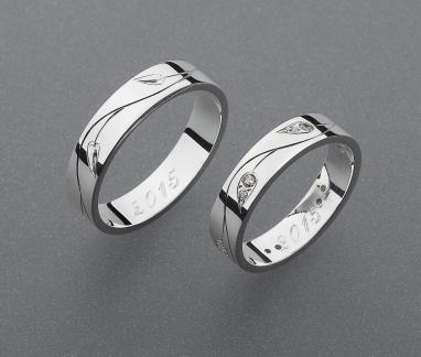 stříbrné snubní prsteny vzor Z57