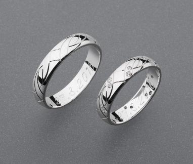 stříbrné snubní prsteny vzor Z56 slim