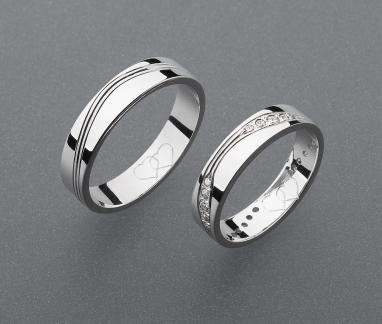 stříbrné snubní prsteny vzor Z63