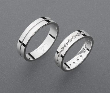 stříbrné snubní prsteny vzor Z65