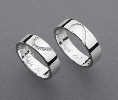 stříbrné snubní prsteny vzor Z66