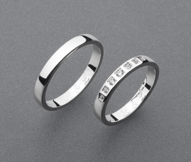 stříbrné snubní prsteny vzor Z69