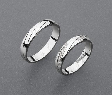 stříbrné snubní prsteny vzor Z76