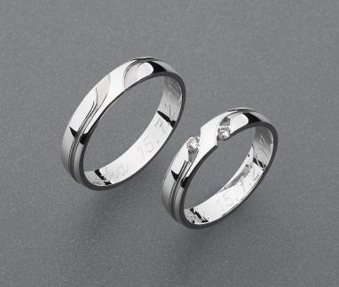 stříbrné snubní prsteny vzor Z79