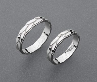 stříbrné snubní prsteny vzor Z81