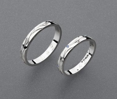 stříbrné snubní prsteny vzor Z82