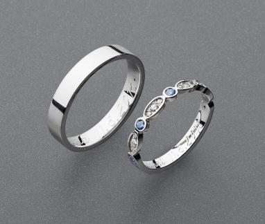stříbrné snubní prsteny vzor Z83