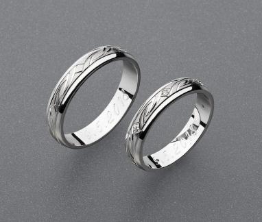 stříbrné snubní prsteny vzor Z87