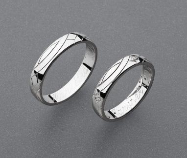 stříbrné snubní prsteny vzor Z88