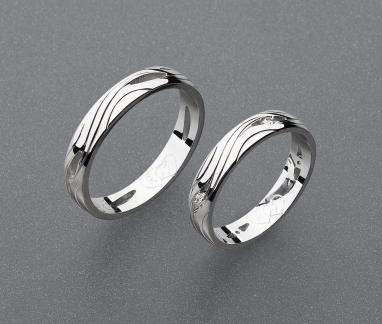 stříbrné snubní prsteny vzor Z90