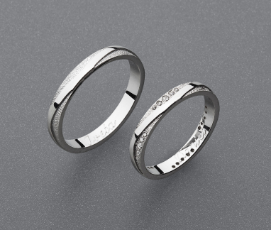 stříbrné snubní prsteny vzor Z91