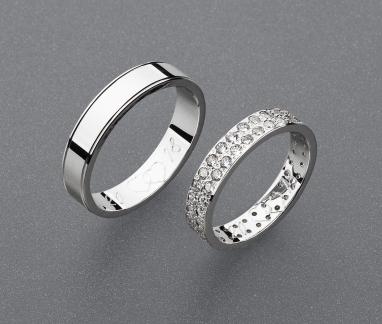 stříbrné snubní prsteny vzor Z94
