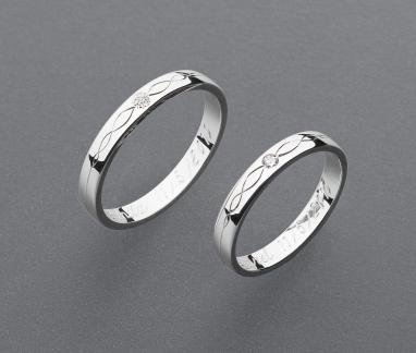 stříbrné snubní prsteny vzor Z95