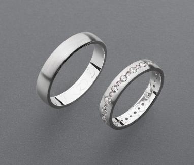 stříbrné snubní prsteny vzor Z96