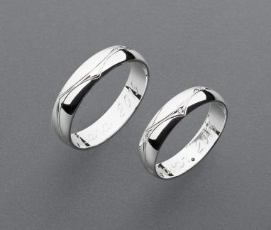 stříbrné snubní prsteny vzor Z97