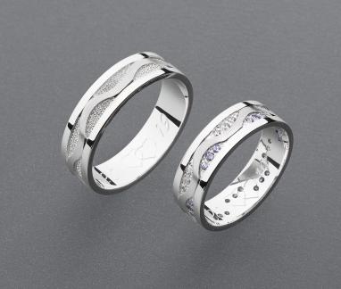 stříbrné snubní prsteny vzor Z99
