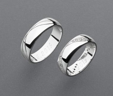 stříbrné snubní prsteny vzor Z100