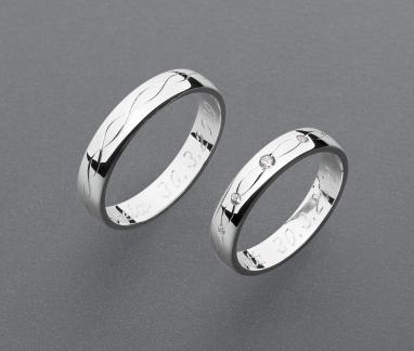 stříbrné snubní prsteny vzor Z101