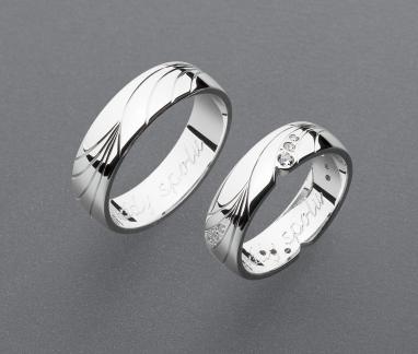 stříbrné snubní prsteny vzor Z102