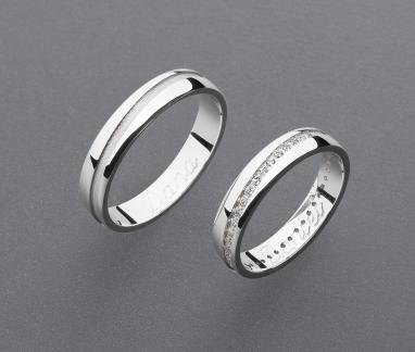 stříbrné snubní prsteny vzor Z103