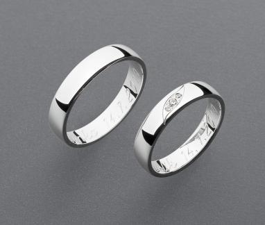 Stříbrné snubní prsteny Z104