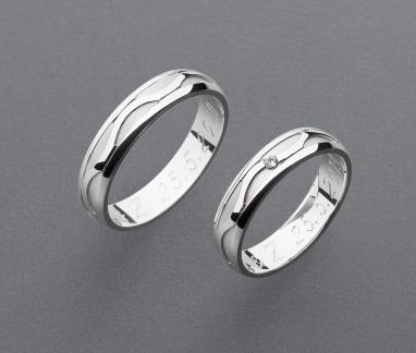 stříbrné snubní prsteny vzor Z105