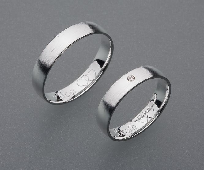 stříbrné snubní prsteny vzor Z3