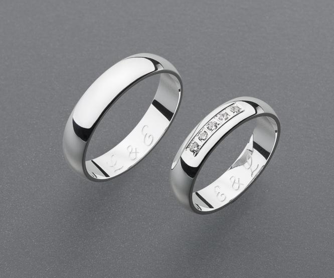 stříbrné snubní prsteny vzor Z38
