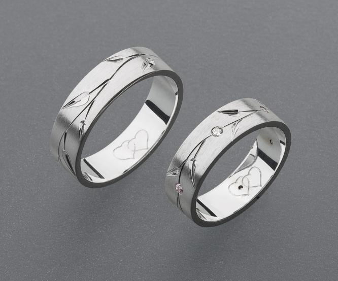 stříbrné snubní prsteny vzor Z40