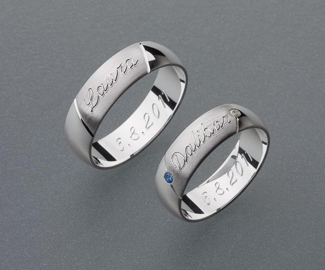 stříbrné snubní prsteny vzor Z18