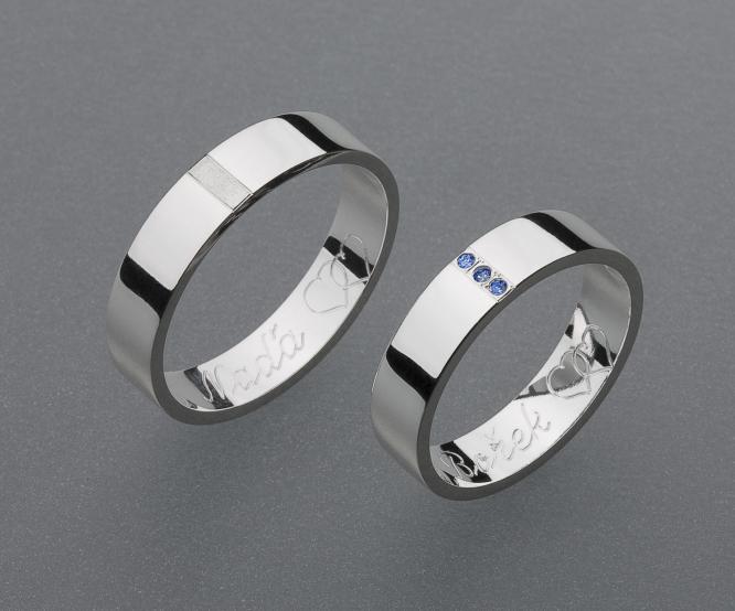 stříbrné snubní prsteny vzor Z28
