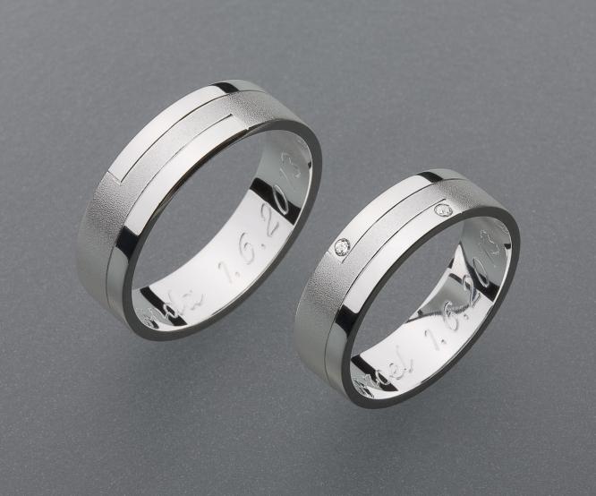 stříbrné snubní prsteny vzor Z29