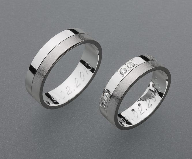 stříbrné snubní prsteny vzor Z31