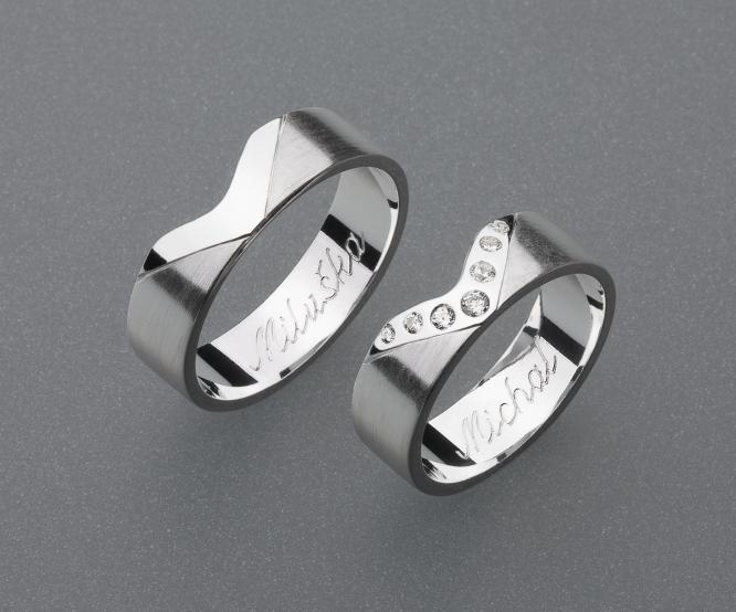 stříbrné snubní prsteny vzor Z22