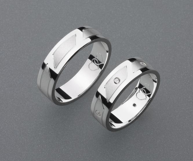 stříbrné snubní prsteny vzor Z24