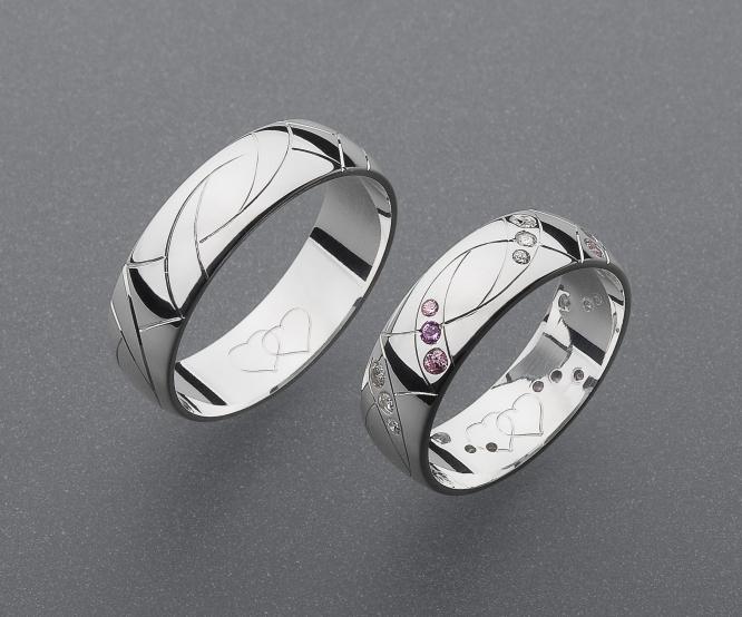 stříbrné snubní prsteny vzor Z56