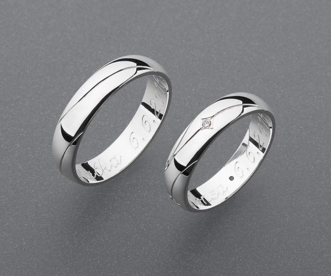 stříbrné snubní prsteny vzor Z64