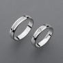 stříbrné snubní prsteny vzor Z58
