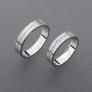 stříbrné snubní prsteny vzor Z59