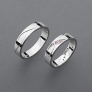 stříbrné snubní prsteny vzor Z62